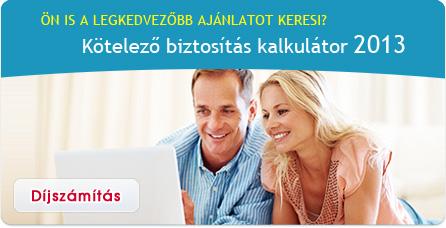 Kötelező biztosítás kalkulátor 2013